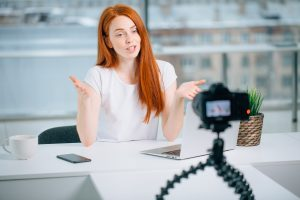 woman on video